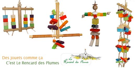 Boutique de jouets pour perroquets et perruches