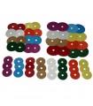 56 ronds en carton colorés pour jouets pour perroquets et perruches
