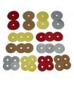 36 ronds en carton colorés pour perroquets et perruches