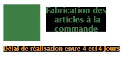 Fabrication des articles à la commande eco-responsable